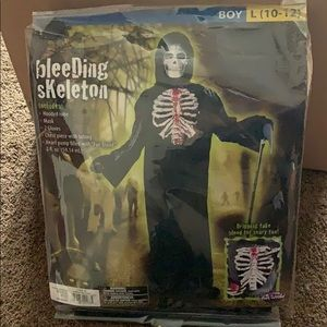 Bleeding Skeleton Costume size L (10-12)